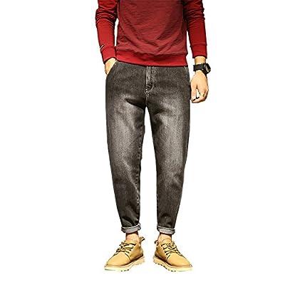 Men`s Classic Retro Style Loose Denim Pants Harem Taper Fit Baggy Stretch Jeans