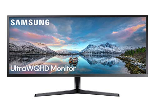 Samsung 34-Inch SJ55W Ultrawide Gaming Monitor LS34J550WQNXZA 75Hz Refresh, WQHD Computer Monitor, 3440 x 1440p Resolution, 4ms Response, FreeSync, Split Screen, HDMI, Black