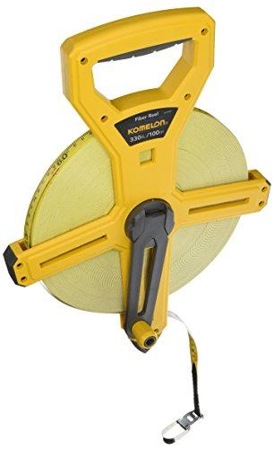 Komelon 66330IM Open Reel Fiberglass Tape Measure, 330-Feet, Hi-Viz Yellow