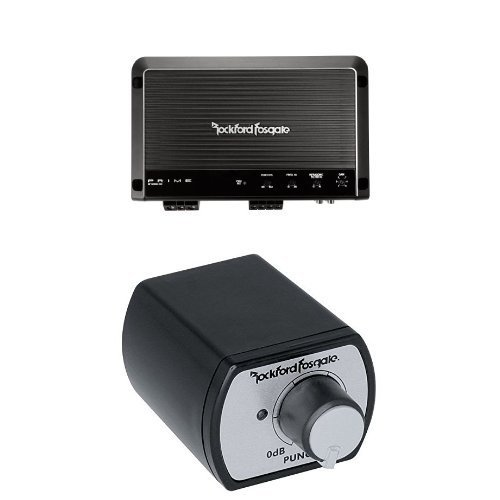 Rockford Fosgate Prime 1,200-Watt Class-D 1-Channel Amplifier and Rockford PEQ Punch Equalization Remote