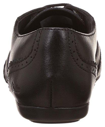Clarks DanceHoney Schule für Mädchen Schuhe aus schwarzem Leder Black Leather 2½ F