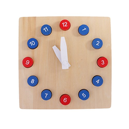 Fityle Kids Wooden Time Teaching Cloth Early Learning Developmental Toy by Fityle (Image #3)