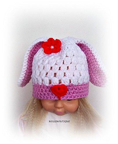 Amazoncom Bunny Hat Crochet Rabbit Hat Kids Bunny Hat Toddler