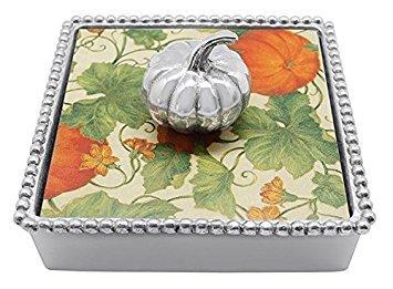Beaded Pumpkin - Mariposa Pumpkin Beaded Napkin Box