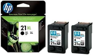 2 x HP Deskjet F380 juego de cartuchos de tinta - negro: Amazon.es ...