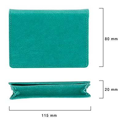 Small Credit Card Holder Large Capacity Bifold Card Wallet Organizer with ID Window for Men & Women