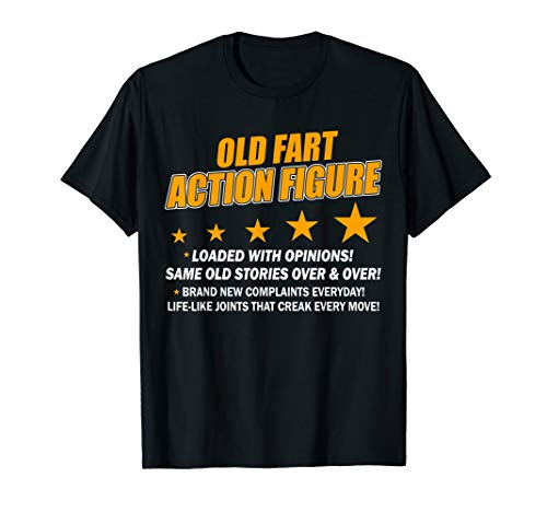 Old Fart Life Sized Action Figure - Funny Birthday T-Shirt