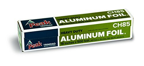 Peak Heavy Duty Aluminum Foil, 750 Square Foot Roll, 18 Inches Wide, Commerical Grade for Kitchen & Grill Use, Sturdy 83 Gauge Aluminum, for Easy Prep, Cooking, Cleaning, Food Service Foil