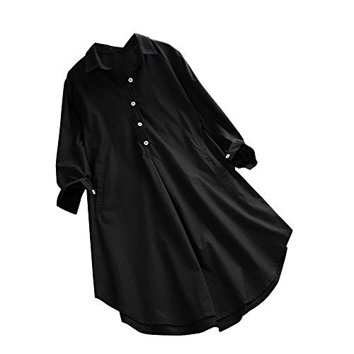 d0e5120ba0102 Clearance T Shirt Blouse,Plus Size Women's Loose Casual Button Pocket Long  Sleeve Tops Shirt