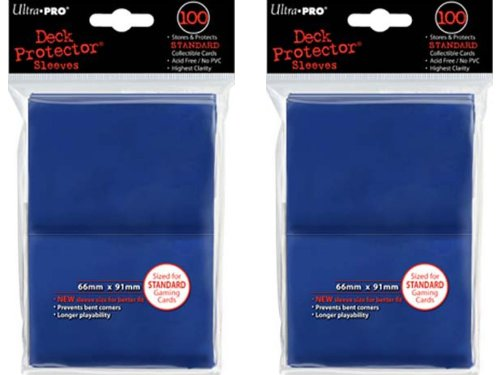 200 Ultra-Pro Blue Deck Protector Sleeves 2-Packs
