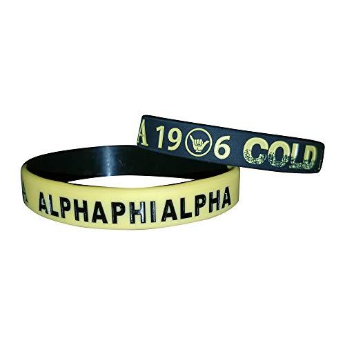 - Greekin' It Alpha Phi Alpha Fraternity Silicone Bracelets (2 Bracelets per Pack)