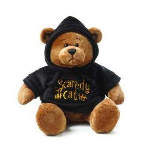 Ganz Halloween Hoodie Bear - Black -
