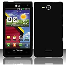 Cell Accessories For Less (TM) For LG Lucid 4G / Connect 4G VS840 (Verizon) Rubberized Cover - Black + Bundle (Stylus & Micro Cleaning Cloth) - By TheTargetBuys