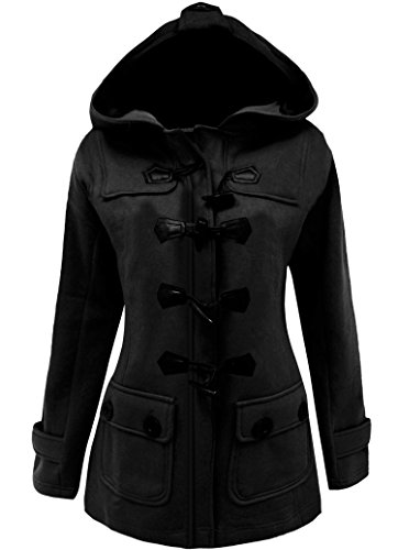 Mea-Womens-Plus-Size-Long-Sleeve-Double-Breasted-Pea-Coat-Hoodie-Winter-Jacket