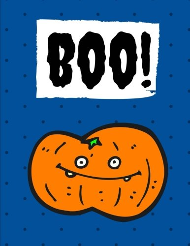 Boo!: Halloween Notebook, Journal, Diary / 100 Pages College Ruled, Royal Blue (Halloween Notebooks) -