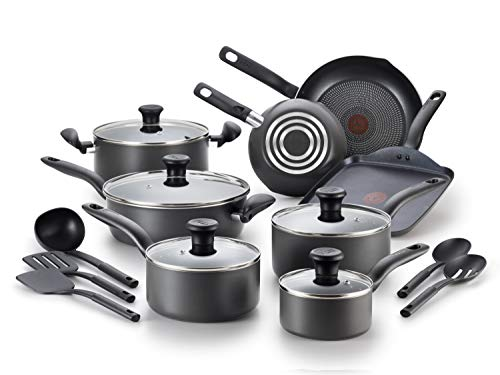 T-fal B208SI64 Initiatives Nonstick Inside and Out Dishwasher Safe Oven Safe Cookware Set