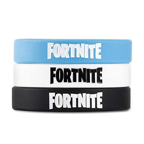 24 Pcs| Video Game Party Favors | Wrist Bands and Bracelets | Blue Black White | Kid's Birthday Sets | Boys Party -