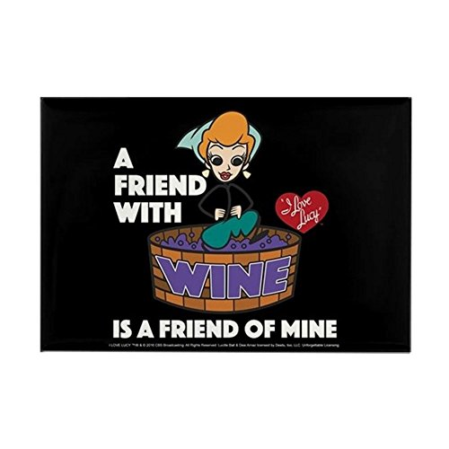 - CafePress I Love Lucy: Wine Friend Rectangle Magnet, 2