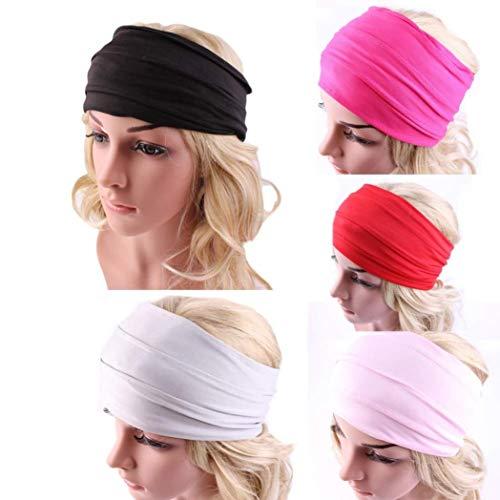 De Nonslip Noir Headwrap Large Pure Couleur Boho Accessoires Adeshop Cheveux Bandeau Femmes Courir Yoga 0v1f1q