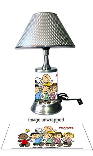 Peanuts Comic Strip Lamp with chrome shade, Charlie Brown...