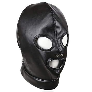 Leather Bondage Hood BDSM Mask Adult Games Cosplay Slave Restraints Head  Harness Sex Toys for Couples