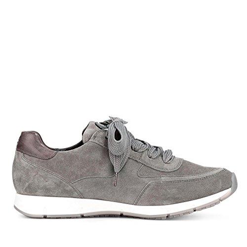 ... Paul Green 4560-031 Dames Sneaker Gemaakt Van Echt Leer Rits En Veters  Grijs ...