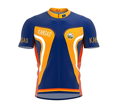 Kansas Bike Jersey - ScudoPro Kansas Bike Short Sleeve Cycling Jersey for Men - Size XL
