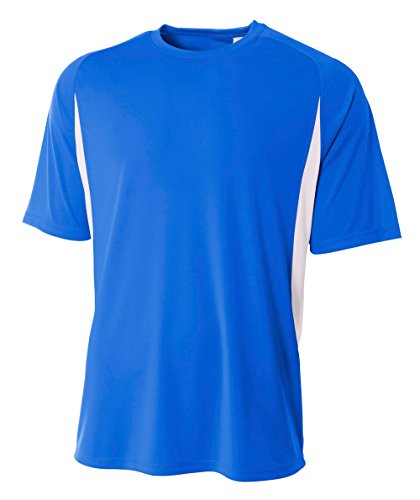- A4 Men's Short Sleeve Cooling Performance Tee, Royal/White, 4X-Large