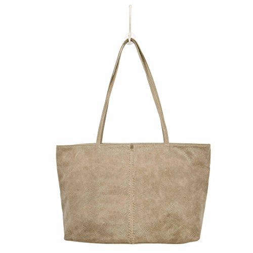 Latico Leathers Cruz Tote Genuine Authentic Luxury Leather, Designer Made, Business Fashion and Casual Wear, Pebble Steel by Latico (Image #1)