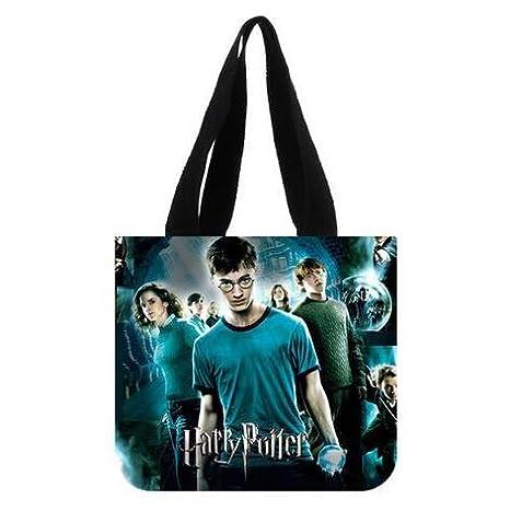 emana harry potter custom canvas shopping tote bag shoulder shopping tote shoulder handbags for christmas gift