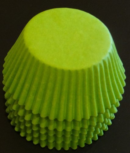 100 Lime Green Cupcake Liners Baking Cups STANDARD SIZE