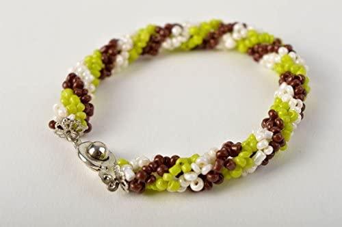 Pulsera de abalorios estilosa hermosa bisuteria artesanal regalo ...