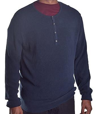 Calvin Klein Men's Henley Carbon Thermal Long Sleeve Shirt