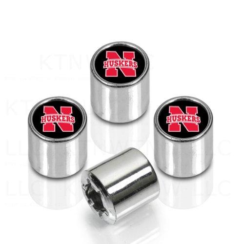 Nebraska Huskers Tire Cover - Officially Licensed NCAA Colorful Insert Valve Caps - Nebraska Cornhuskers