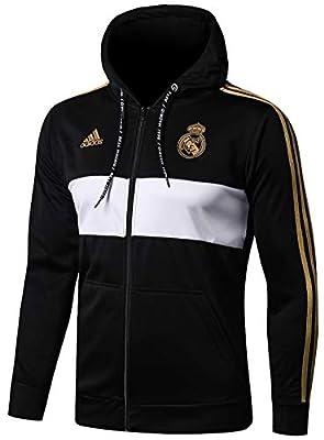 NDK-Store Men's 2019-2020 Official Real Madrid Full Zip Hoodie Black