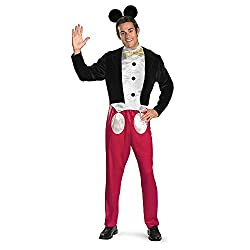 Disguise Mickey Mouse Deluxe Mens Adult Costume Red/Black/White X-Large/42-46
