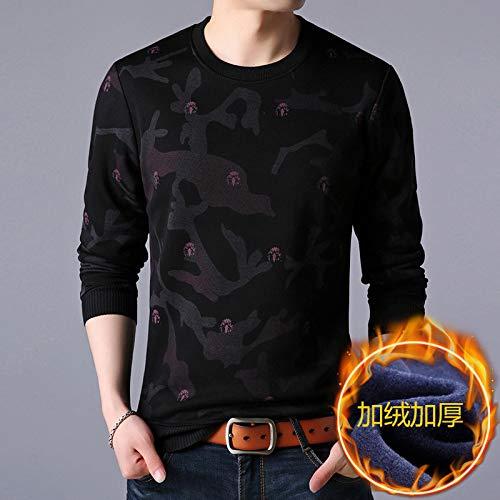 BBYIKAI Sweatshirts Winter Herren Rundhals-Pullover Bodenbildung Shirt Sweatshirt