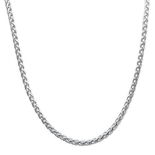 925 Silver Flat Snake Necklace Flat Snake Bracelet Set - 4