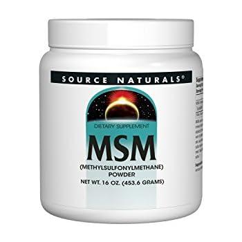 Source Naturals MSM (Methylsulfonylmethane) Powder 16 Ounces(453 6 Grams)