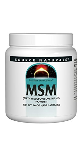Source Naturals MSM (Methylsulfonylmethane) Powder 16 Ounces(453.6 Grams)