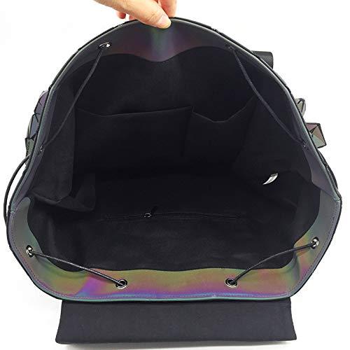 Bag Shoulder Size symphony Vioy Geometry Laser Women's Backpack one Rhombus Scrub Bucket Type 6BTHwEq