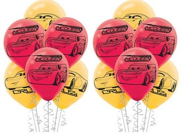 12 x Disney Cars 3 Latex Balloons 12 count Birthday Party -