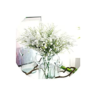 1pc Green Thumb 69cm White Artificial Gypsophila for Wedding Home Hotel Party Artificial Flowers Decorations 7