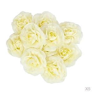 Homyl 50pcs Artificial Fake Camellia Flower Heads for Wedding Party Car Bridal Headdress Glower DIY Decor 94