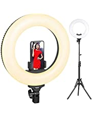 Ringlicht, ESDDI 14inch LED Dimmable Ring Licht Ring, Bi-Color 3200K-5800K Kit mit Licht Stand und Hot Shoe für Portraitfür Selfie, YouTube Video und Make up