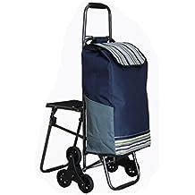 J&M Folding Shopping Cart, Stair Climbing Cart Grocery Utility Cart Wheel Bearings