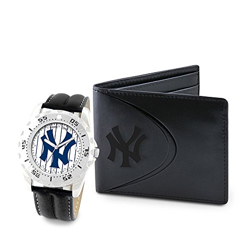 Game Time GTW-MLB-WWS-NY3 New York Yankees MLB Mens Watch & Wallet Set
