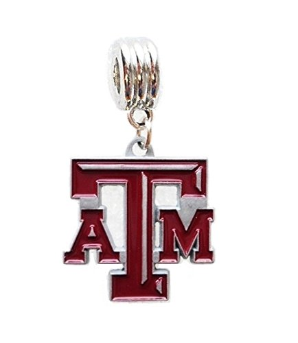 - Heavens Jewelry TEXAS A&M UNIVERSITY AGGIES CHARM SLIDER PENDANT ADD TO YOUR NECKLACE, EUROPEAN BRACELET, DIY PROJECTS, ETC.