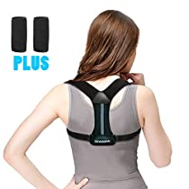 Posture Corrector Brace, GROOFOO Back Posture Brace with Armpit Pads for Women & Men to Improve Bad Posture & Relieve Back Pain