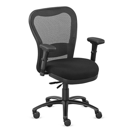Black Fabric Big and Tall Mesh Chair - NBF Signature Series Performa Collection